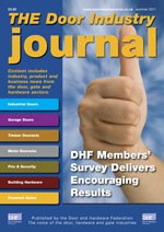 The Door Industry Journal - Summer 2011 Issue